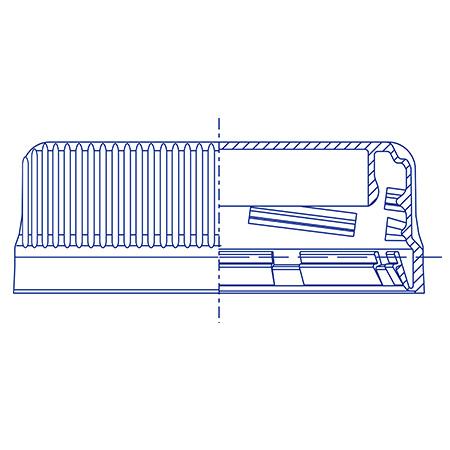 Пластиковый колпачок для ПЭТ бутылок SC 2622.20