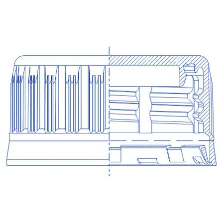 Пластиковый колпачок для ПЭТ бутылок SC 1011