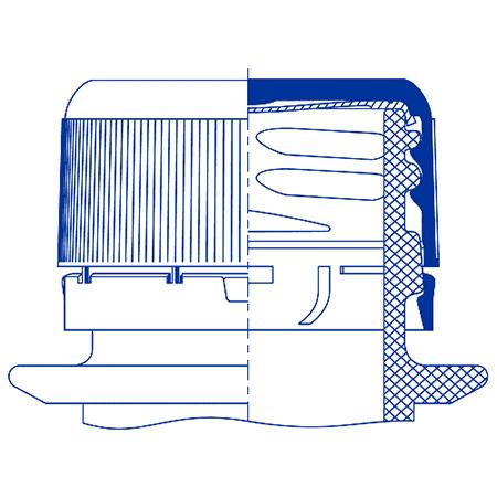 Пластиковый колпачок для ПЭТ бутылок SC 201