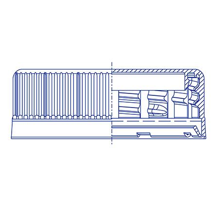Пластиковый колпачок для ПЭТ бутылок SC 3814