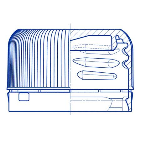Пластиковый колпачок для ПЭТ бутылок SC 601